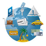 Travel concept icon royalty free illustration