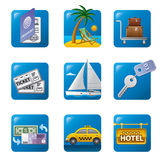 Travel concept icon stock illustration