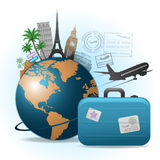 Travel concept illustration Royalty Free Stock Photos
