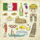 Travel concept of Italy Royalty Free Stock Photo