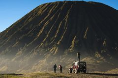 Travel concept of a journey to Mt.Bromo in Indonesia - well know royalty free stock photos