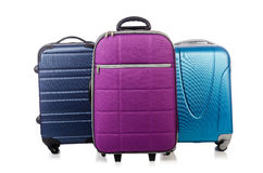 Travel concept with luggage suitacase Stock Images
