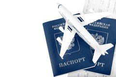 Travel concept with money, documents and map Royalty Free Stock Photography