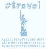 Travel concept with monument Stock Image