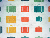 Travel concept: multicolor Bag icons on background Stock Photography