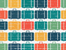 Travel concept: multicolor Bag icons on wall Royalty Free Stock Image