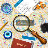 Travel concept. Navigation - You are here Stock Photography