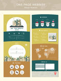 Travel concept one page website design template royalty free illustration