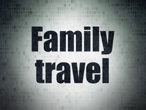 Travel concept: Family Travel on Digital Data Paper background. Travel concept: Painted black word Family Travel on Digital Data Paper background Royalty Free Stock Images
