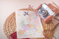 Plan For Travelling. Travel concept. Royalty Free Stock Photos