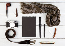 Travel concept - set of cool men's accessories Royalty Free Stock Image