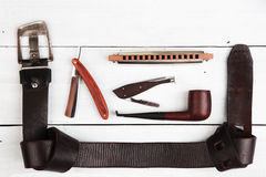 Travel concept - a set of cool men's accessories Royalty Free Stock Photos