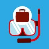 Travel concept snorkeling equipment. Vector illustration eps 10 Stock Photo