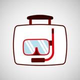 Travel concept snorkeling equipment. Vector illustration eps 10 Stock Image