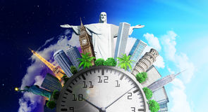 Travel concept. Time zones. Royalty Free Stock Images