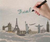 Travel concept royalty free illustration