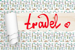 Travel concept wallpaper Royalty Free Stock Images