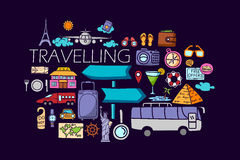Travel concept for web design template Royalty Free Stock Image