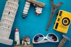 Travel concept world famous souvenir Stock Photography