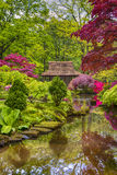 Travel Concepts. Amazing Picturesque Scenery of Japanese Garden Stock Photography