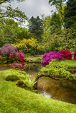 Travel Concepts. Amazing Picturesque Scenery of Japanese Garden Royalty Free Stock Photography