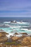 Travel Concepts. Astonishing View of Pacific Shoreline Royalty Free Stock Photos
