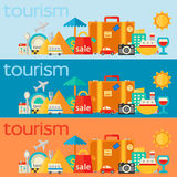Travel concepts banners Royalty Free Stock Photos