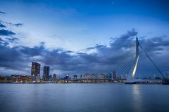 Travel Concepts and Ideas. Picturesque View of Erasmusbrug Stock Photo