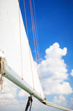 Travel Concepts: Mast of the Yacht On Sea Royalty Free Stock Photo
