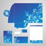 Travel Corporate Identity Vector. Set of corporate identity templates - blank, card, cd, note-paper, envelope, folder EPS10 royalty free illustration