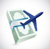 Travel cost illustration design Stock Photo