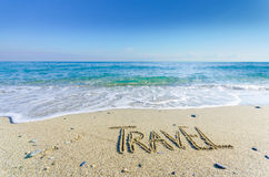 TRAVEL, creative abstract graphic message Stock Image