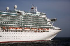 Travel in cruise. Cruise full ahead out of port Royalty Free Stock Image