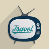 Travel & Cultures. Concept for travel industry, exploration and travel culture. Flat design illustration Stock Photography