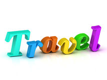 Travel 3d inscription bright volume letter Royalty Free Stock Photo