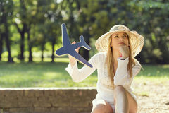 Travel daydreaming Stock Photography