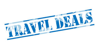 Travel deals blue stamp Royalty Free Stock Photo