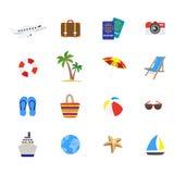 Travel Decorative Flat Icons Set Royalty Free Stock Images