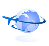 Travel and delivery logo concept Stock Image