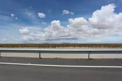 Travel. Desert road at Salar de Uyuni, Bolivia Royalty Free Stock Image