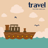 Travel design. Over landscape background vector illustration Royalty Free Stock Photography