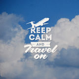 Travel design with clouds background royalty free illustration