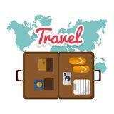Travel design stock illustration
