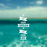 Travel design Ocean backdrop Vector Editable Blurred Typography label Lettering, Typography quote. Royalty Free Stock Photo