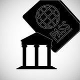 travel design. passport icon. Flat illustration,  graphic Stock Photo