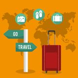 Travel design royalty free illustration