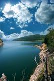 Travel destination. Lake Vidraru in Romania Royalty Free Stock Photography
