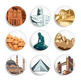 Travel destination badges | Set 3 Stock Image