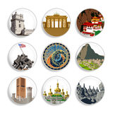 Travel destination badges | Set 4 Stock Images