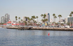 Travel destination cityscape and shoreline of Long Beach California Stock Photo